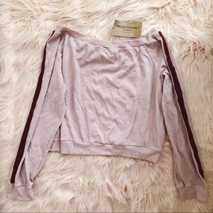 NWT Project Social T Mauve Waffle Knit Pullover